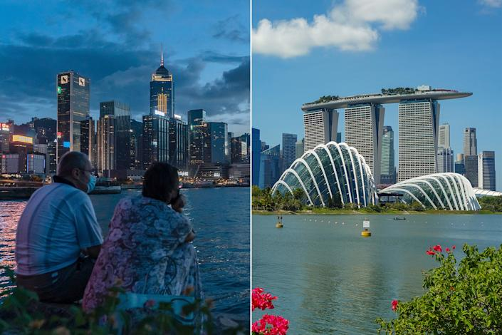 The Singapore-Hong Kong travel bubble will place minimal restrictions on travellers from both places. (PHOTOS: Getty Images)